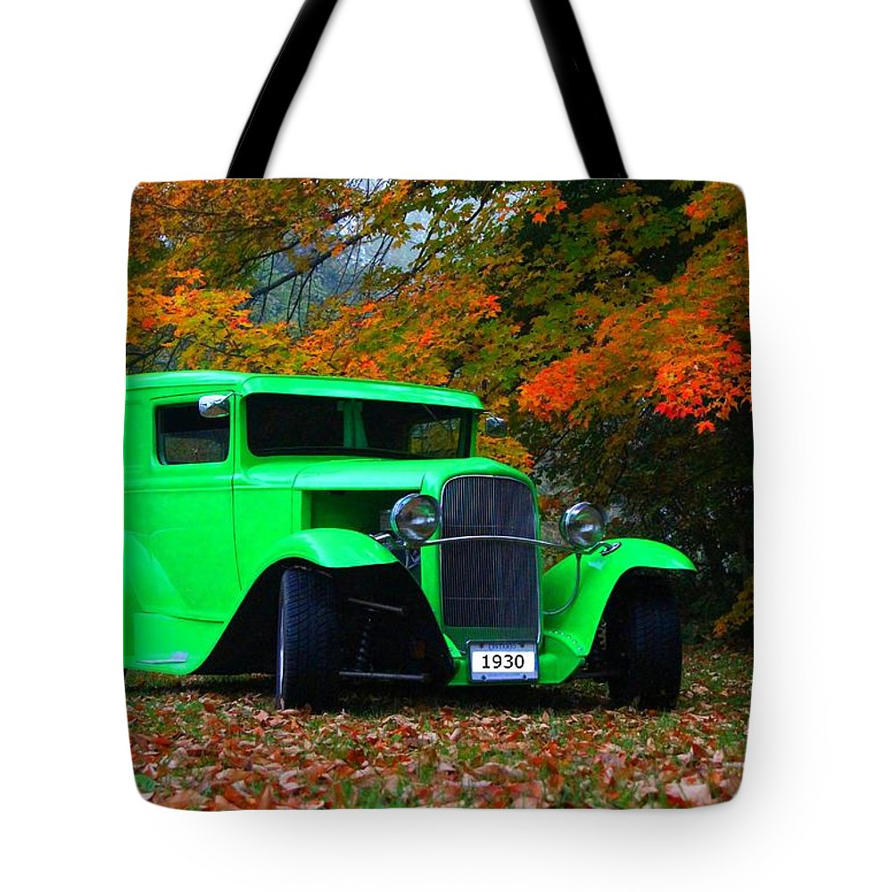 Car Tote Bag featuring the photograph 1930 Ford Sedan Delivery Truck by Davandra Cribbie