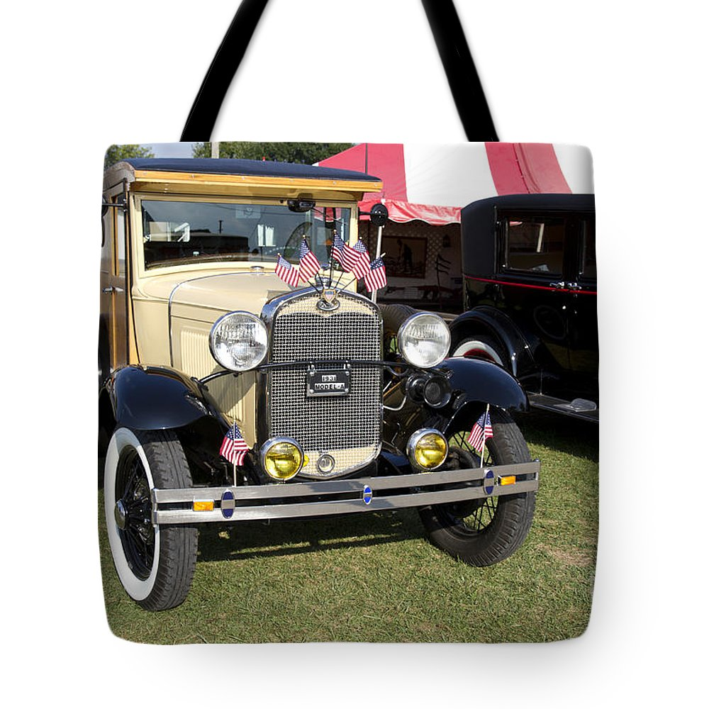 Vintage Tote Bag featuring the photograph 1931 Ford Model-a Car by Ohad Shahr