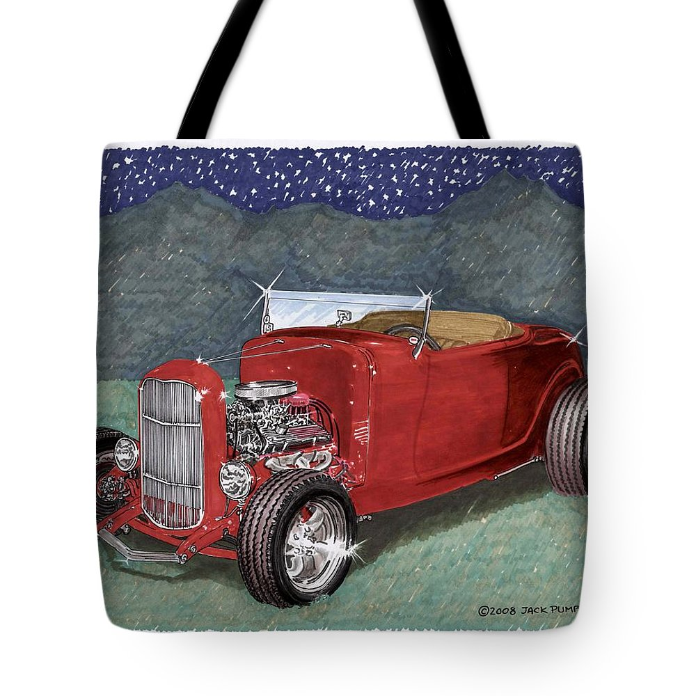 Classic Car Art Tote Bag featuring the painting 1932 Ford High Boy by Jack Pumphrey