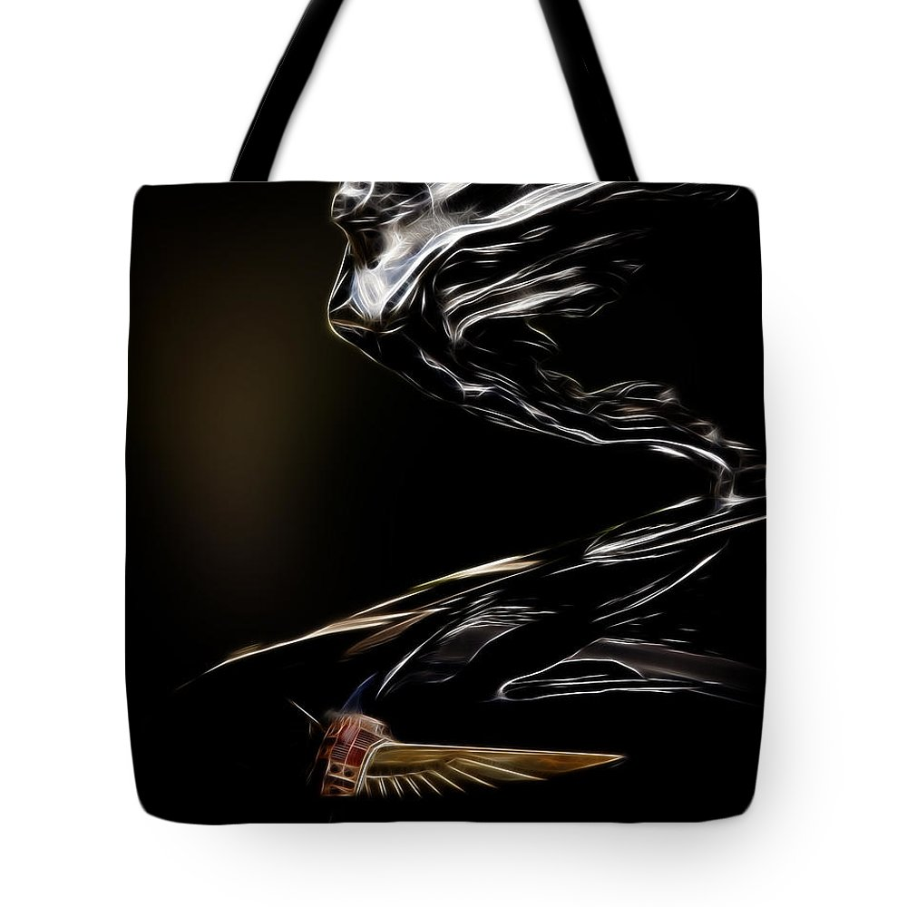 Hood Ornament Tote Bag featuring the photograph 1933 Cadillac Emblem by Steve McKinzie