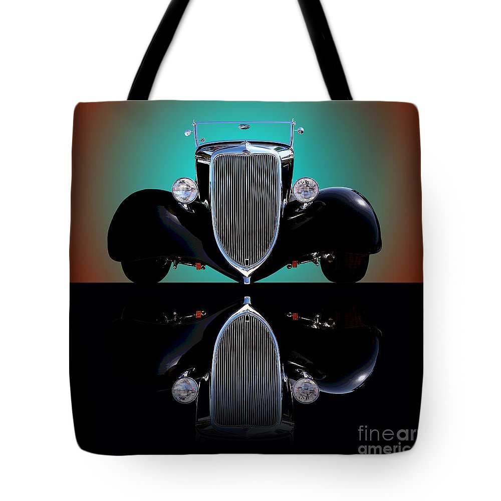Car Tote Bag featuring the photograph 1934 Ford Phaeton Convertible by Jim Carrell