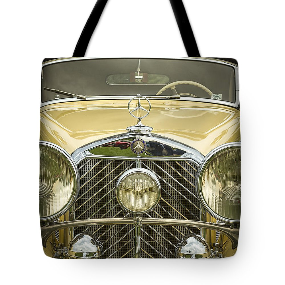 A Tote Bag featuring the photograph 1936 Mercedes Benz by Jack R Perry