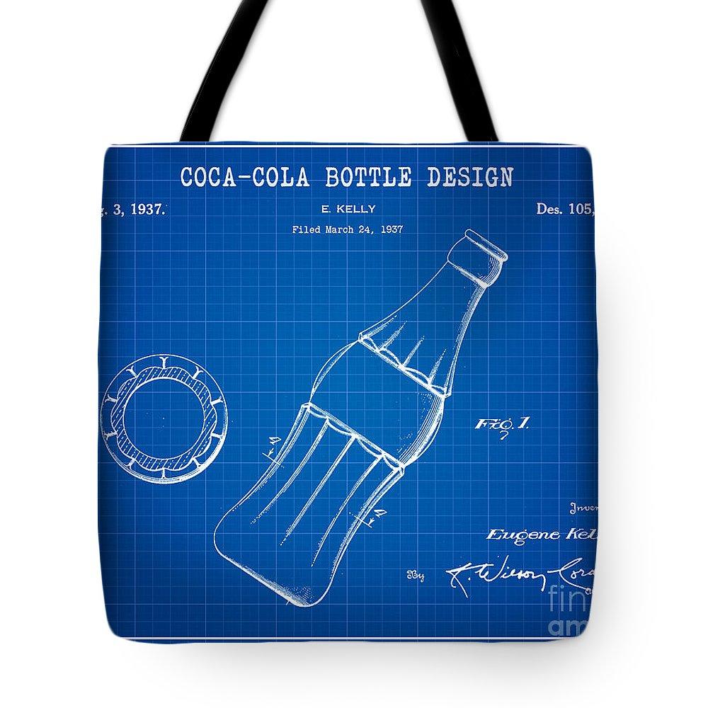 58c2d6a7c02c Coca Cola Bottle Patent Art Tote Bag featuring the digital art 1937 Coca  Cola Bottle Design