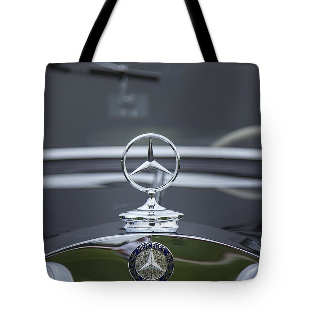 1937 Tote Bag featuring the photograph 1937 Mercedes Benz by Jack R Perry