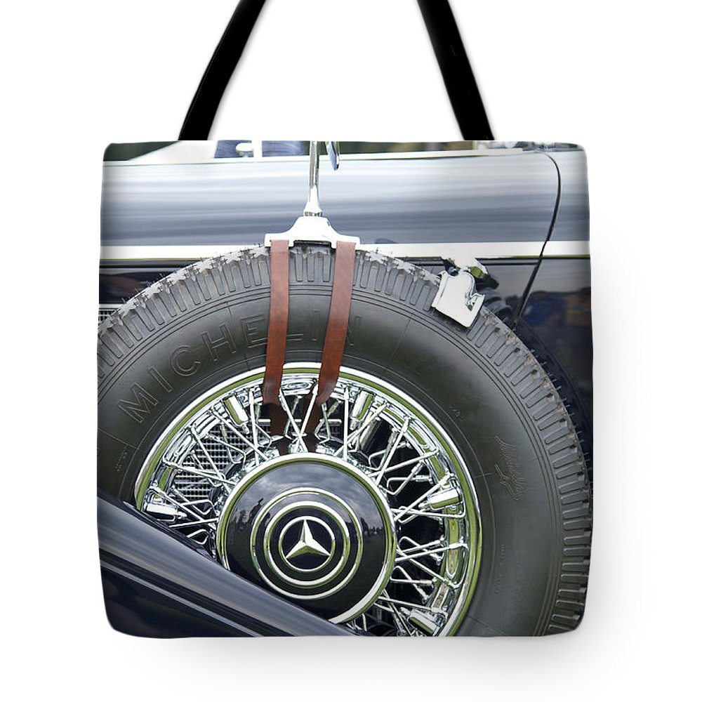 Antique Tote Bag featuring the photograph 1938 Bentley by Jack R Perry