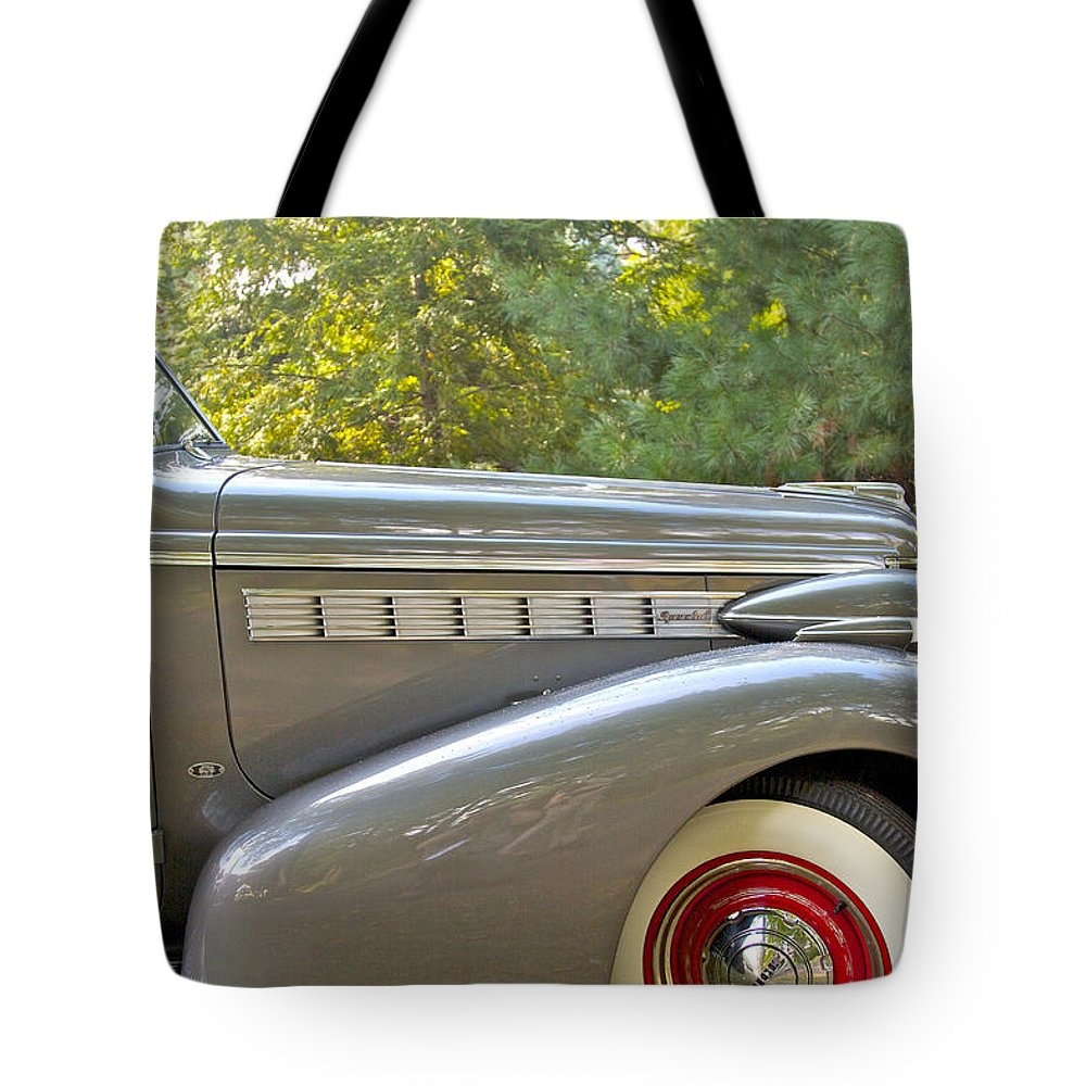 Antique Tote Bag featuring the photograph 1938 Buick Special by Jack R Perry