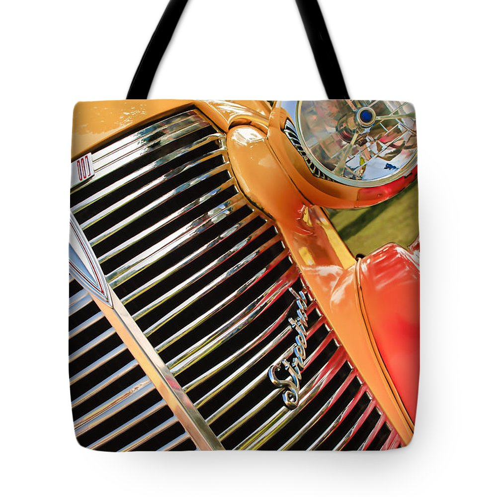1938 Chevrolet Coupe Grille Emblems Tote Bag featuring the photograph 1938 Chevrolet Coupe Grille Emblems by Jill Reger