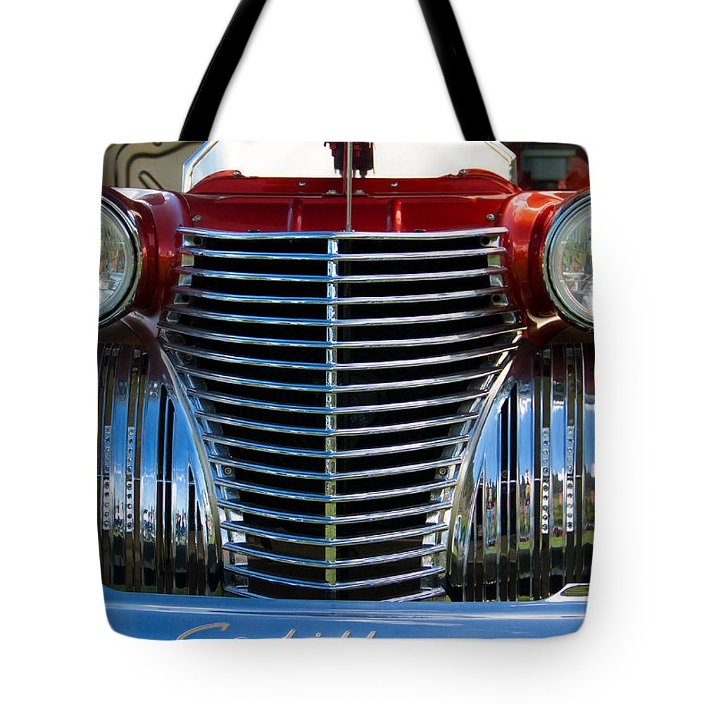 Coupe Tote Bag featuring the photograph 1940 Cadillac Coupe Front View by Eti Reid