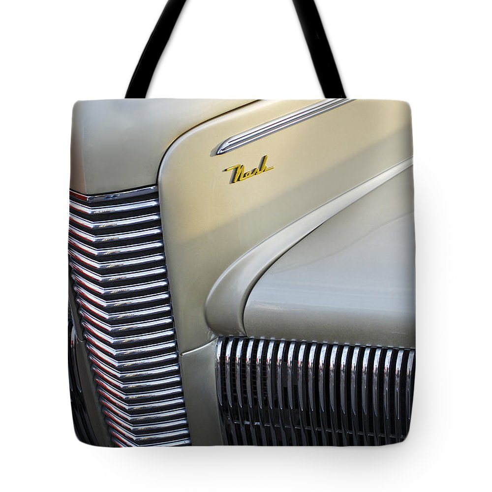 Car Tote Bag featuring the photograph 1940 Nash Grille by Jill Reger