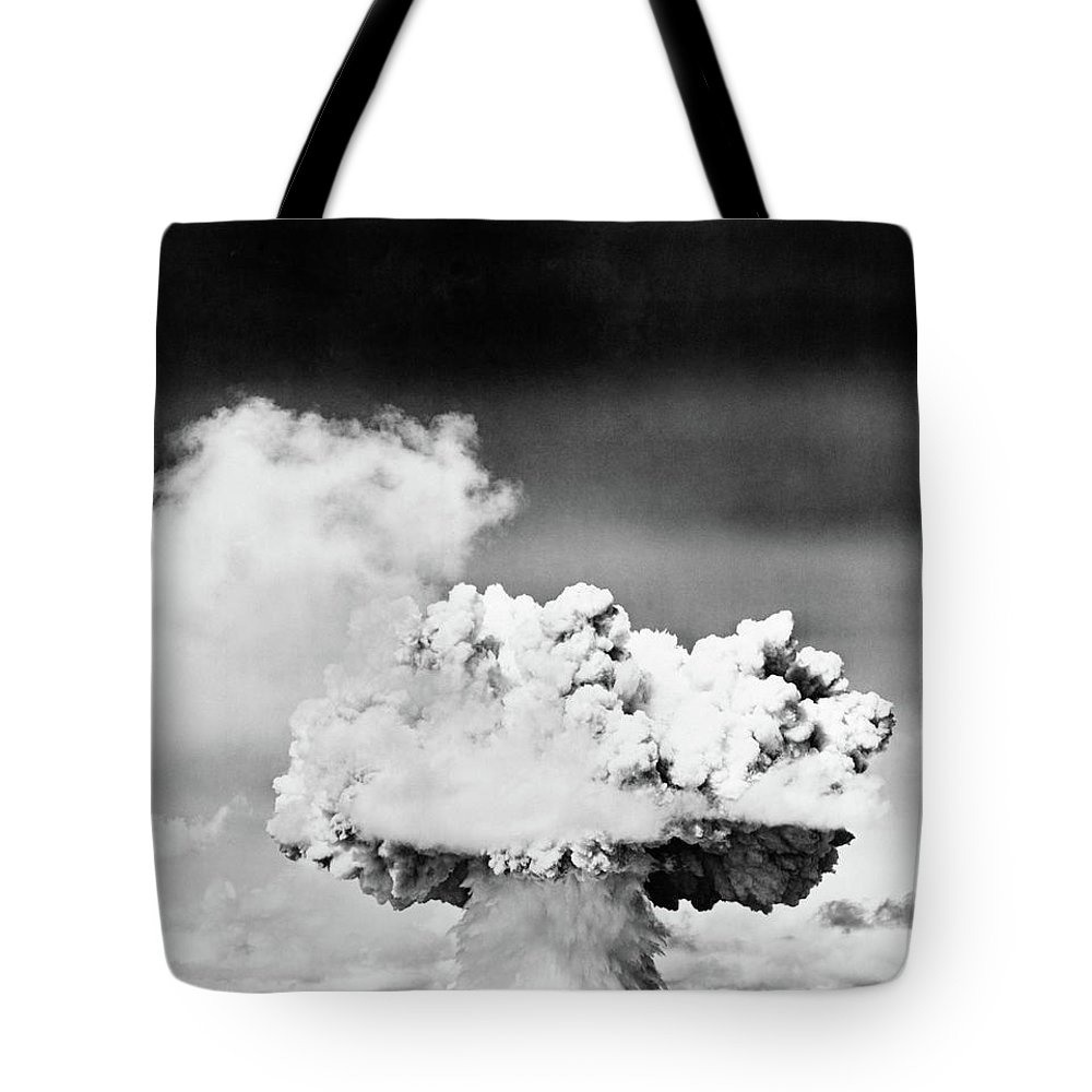 Photography Tote Bag featuring the photograph 1940s 1950s Atomic Bomb Explosion by Vintage Images