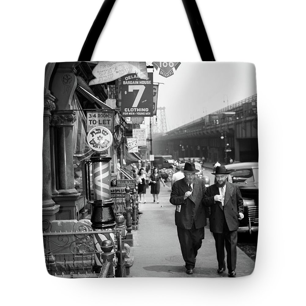 Photography Tote Bag featuring the photograph 1940s Manhattan Lower East Side by Vintage Images