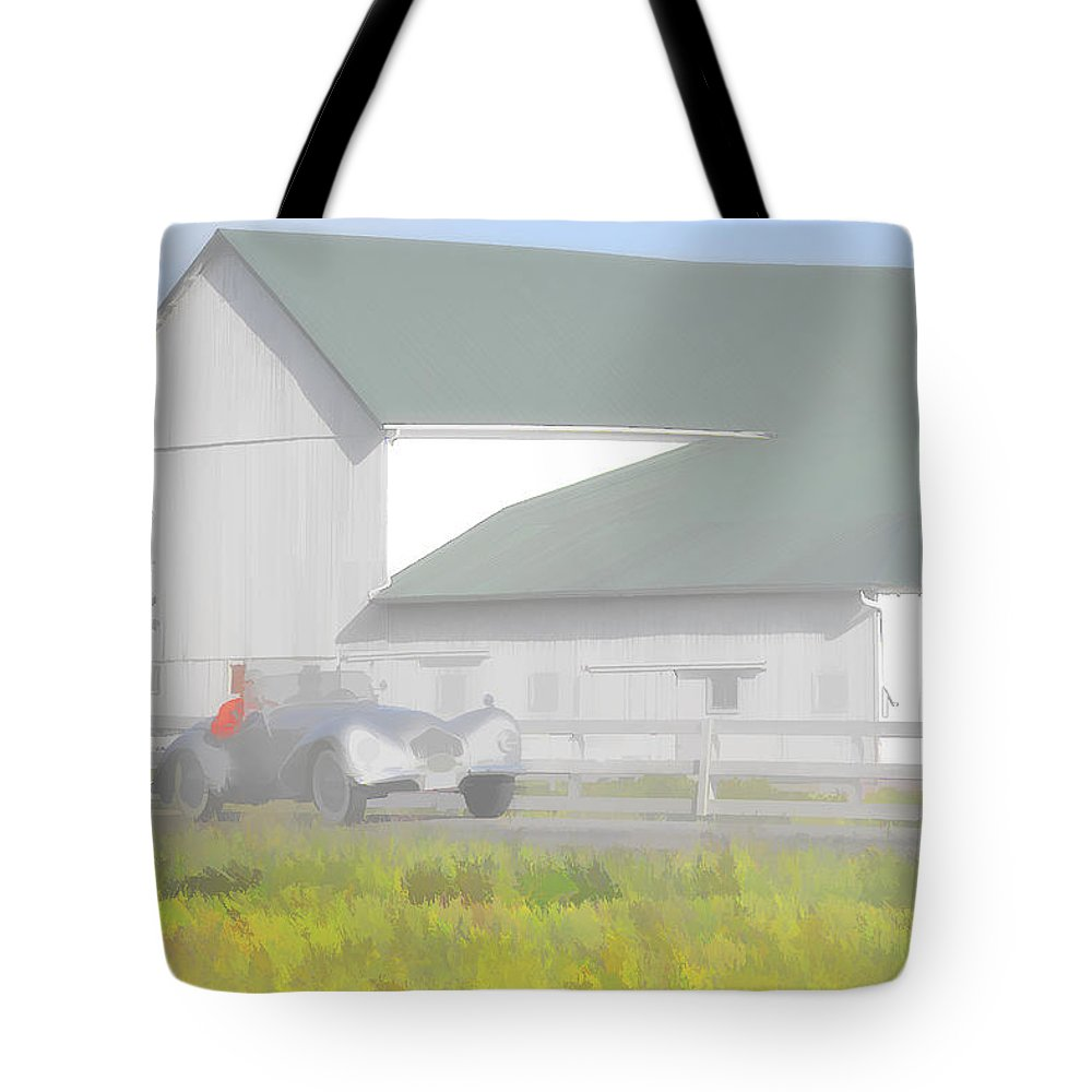 Allard Tote Bag featuring the photograph 1950 Allard K2 Roadster by Jack R Perry