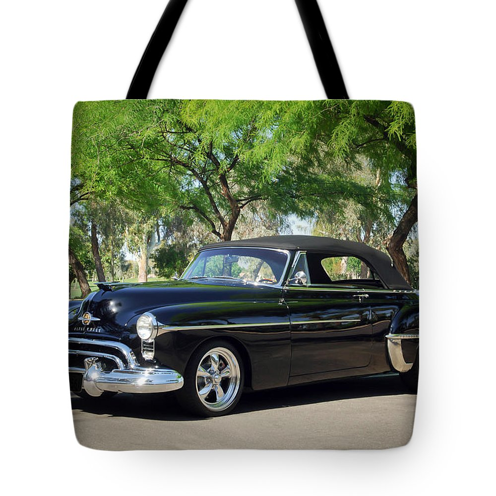 1950 Oldsmobile 88 Tote Bag featuring the photograph 1950 Oldsmobile 88 -004c by Jill Reger