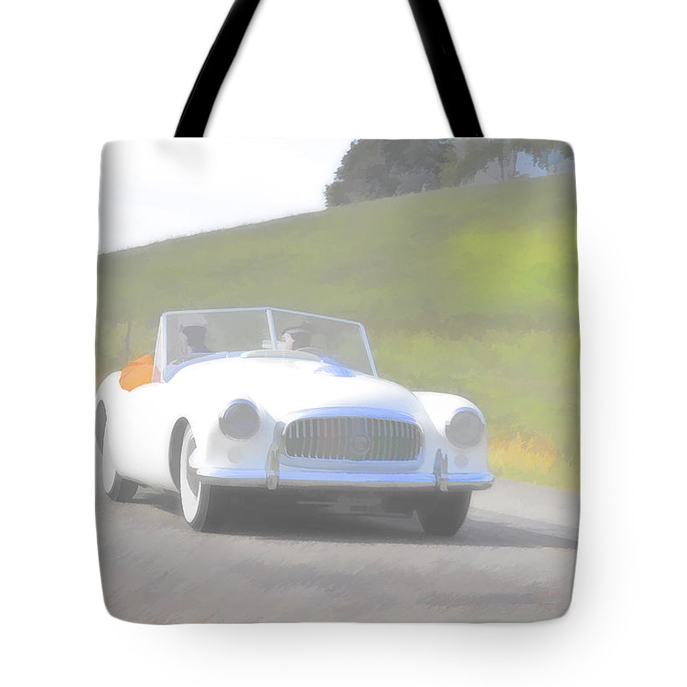Nash Tote Bag featuring the photograph 1951 Nash Healey by Jack R Perry