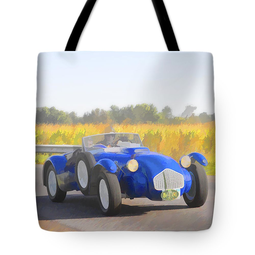 Allard Tote Bag featuring the photograph 1953 Allard J2x Roadster by Jack R Perry
