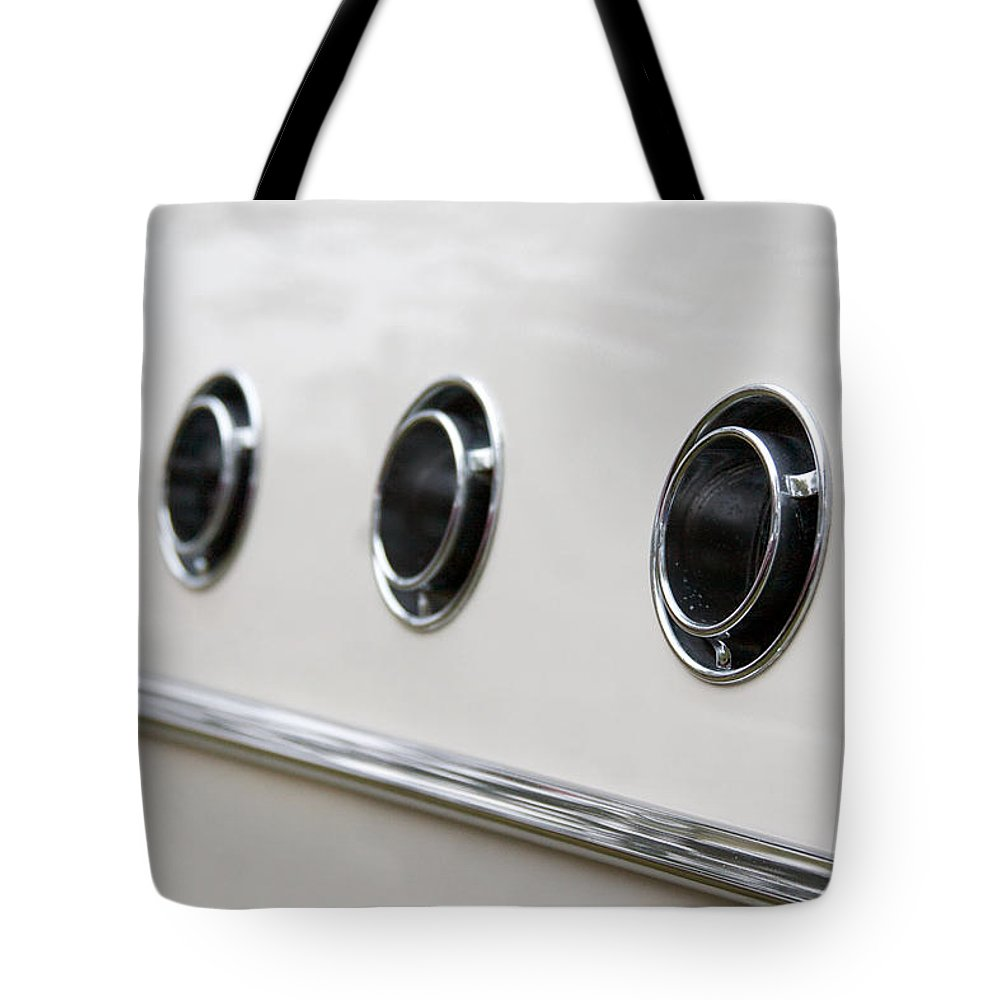 1955 Buick Special Photographs Tote Bag featuring the photograph 1955 Buick Special Air Vents by Brooke Roby