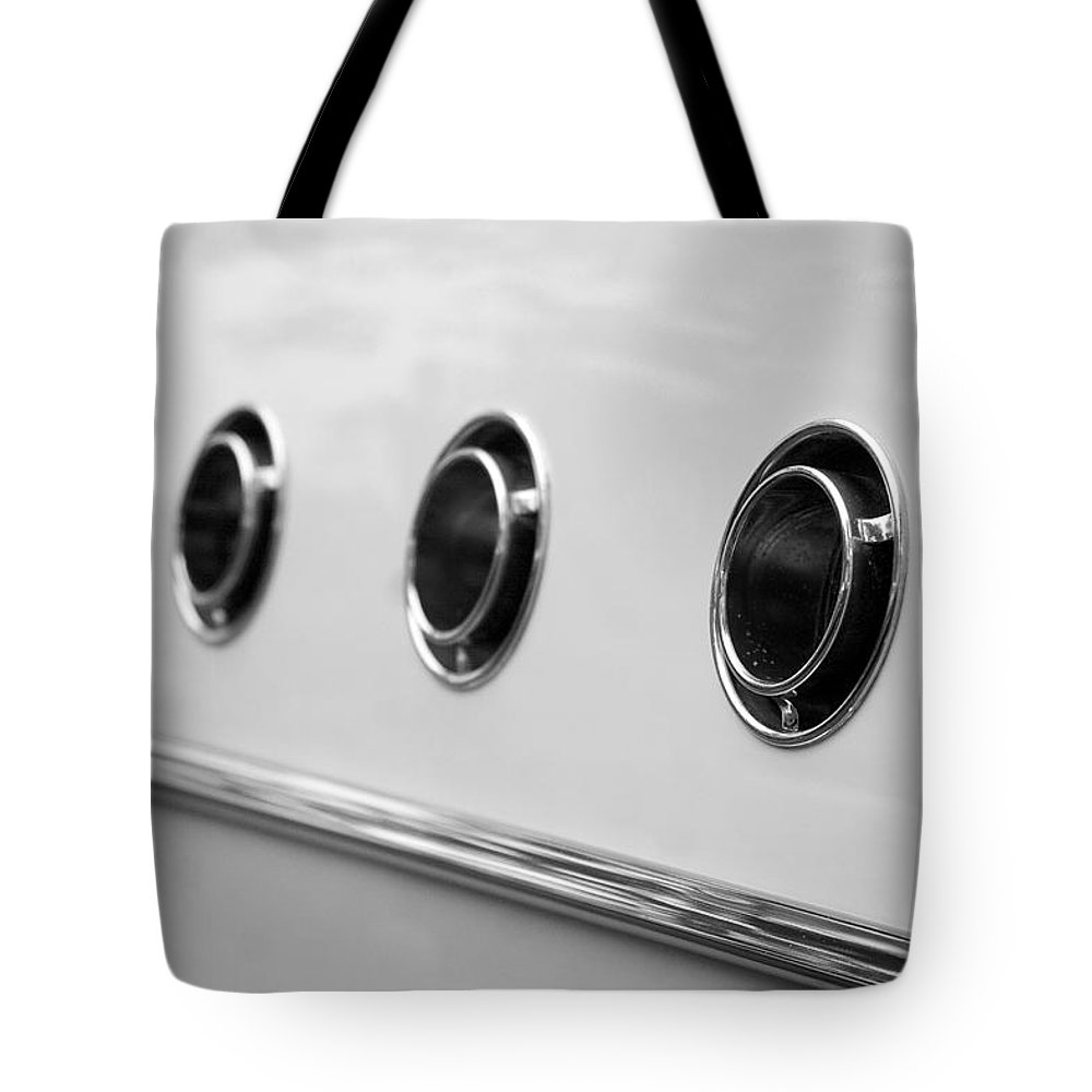 1955 Buick Special Photographs Tote Bag featuring the photograph 1955 Buick Special Side Air Vents by Brooke Roby