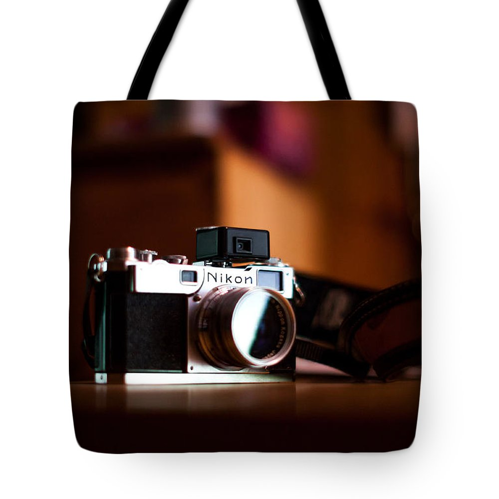 Nikon Tote Bag featuring the photograph 1955 Nikon S2 by Aaron Aldrich