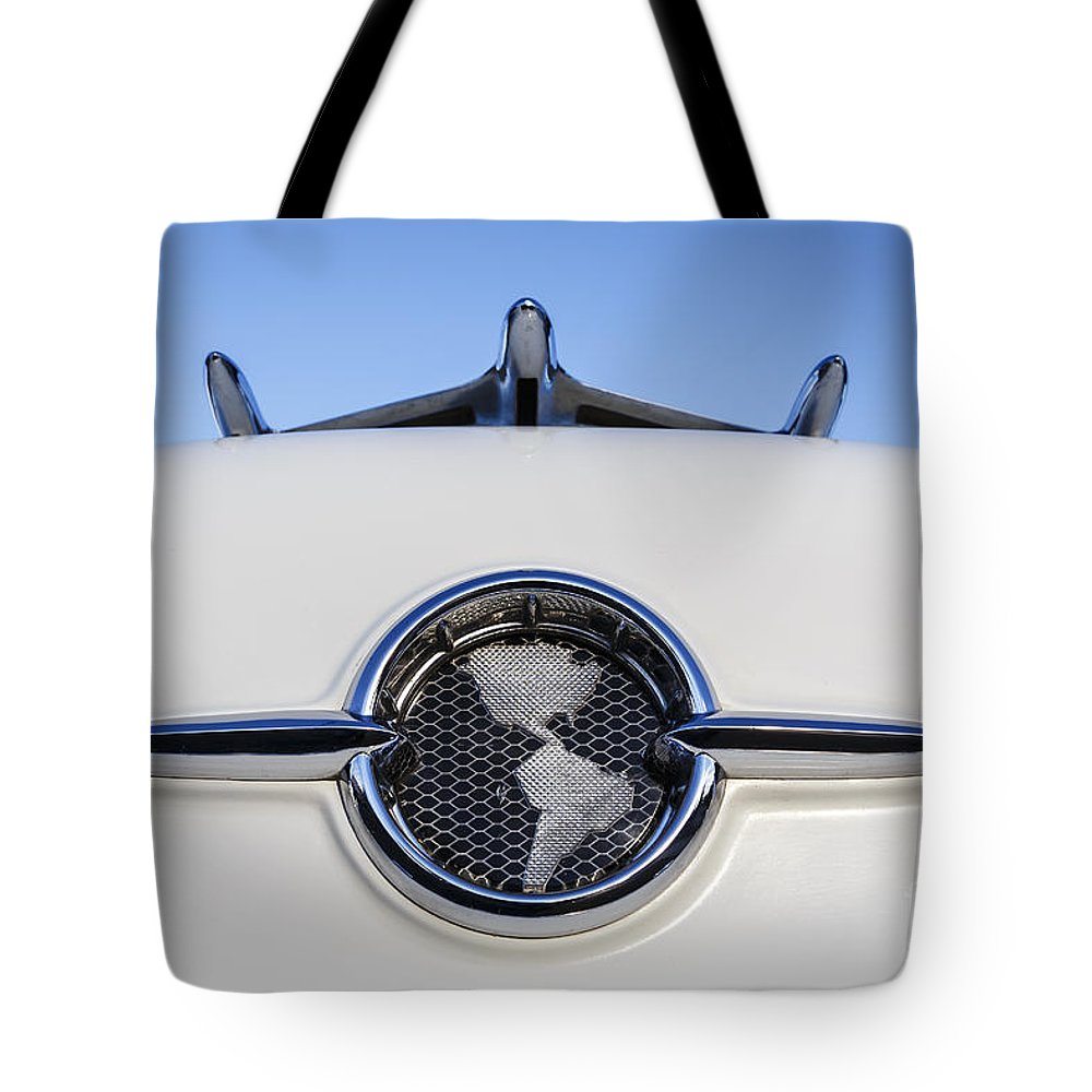 1955 Oldsmobile Tote Bag featuring the photograph 1955 Oldsmobile by Dennis Hedberg