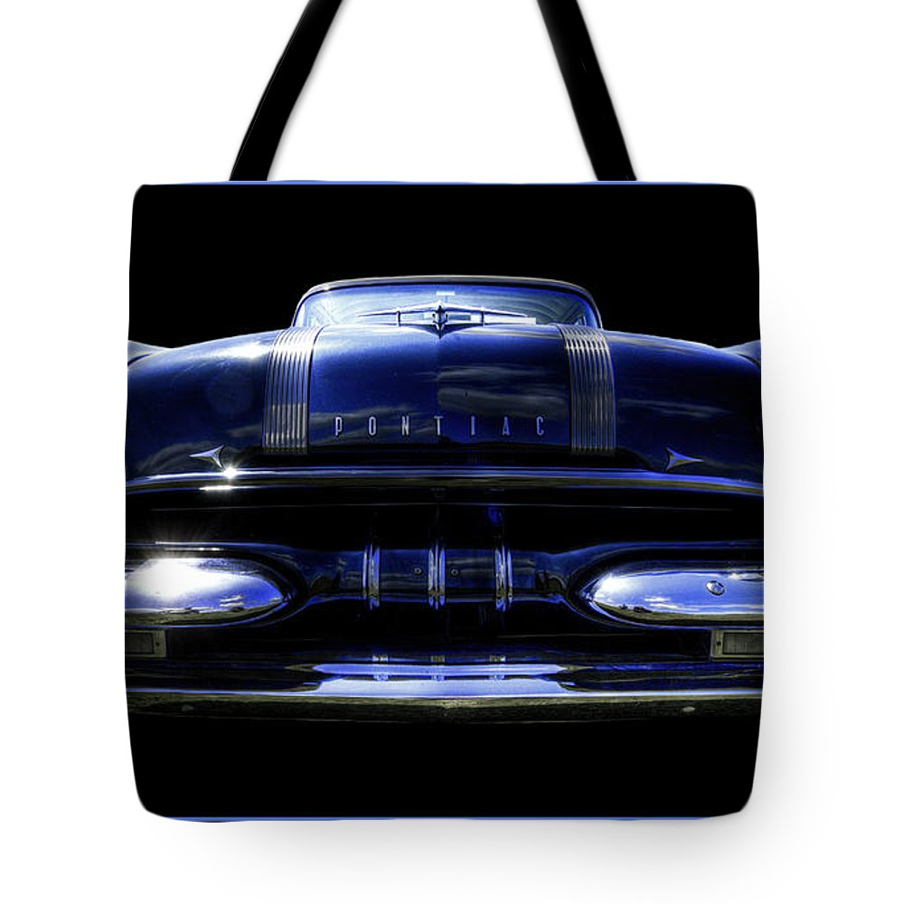 1955 Tote Bag featuring the photograph 1955 Pontiac by Jay Droggitis