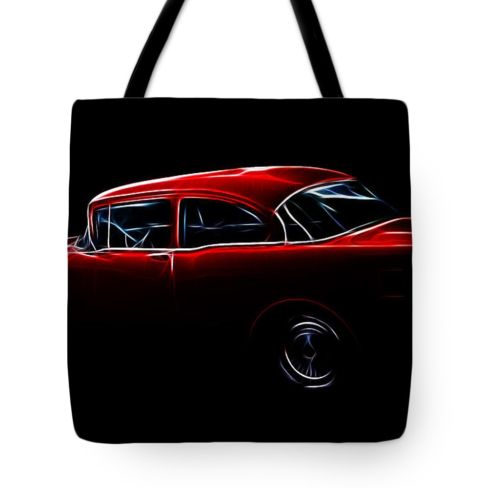 1956 Buick Special Tote Bag featuring the photograph 1956 Buick Special by Steve McKinzie