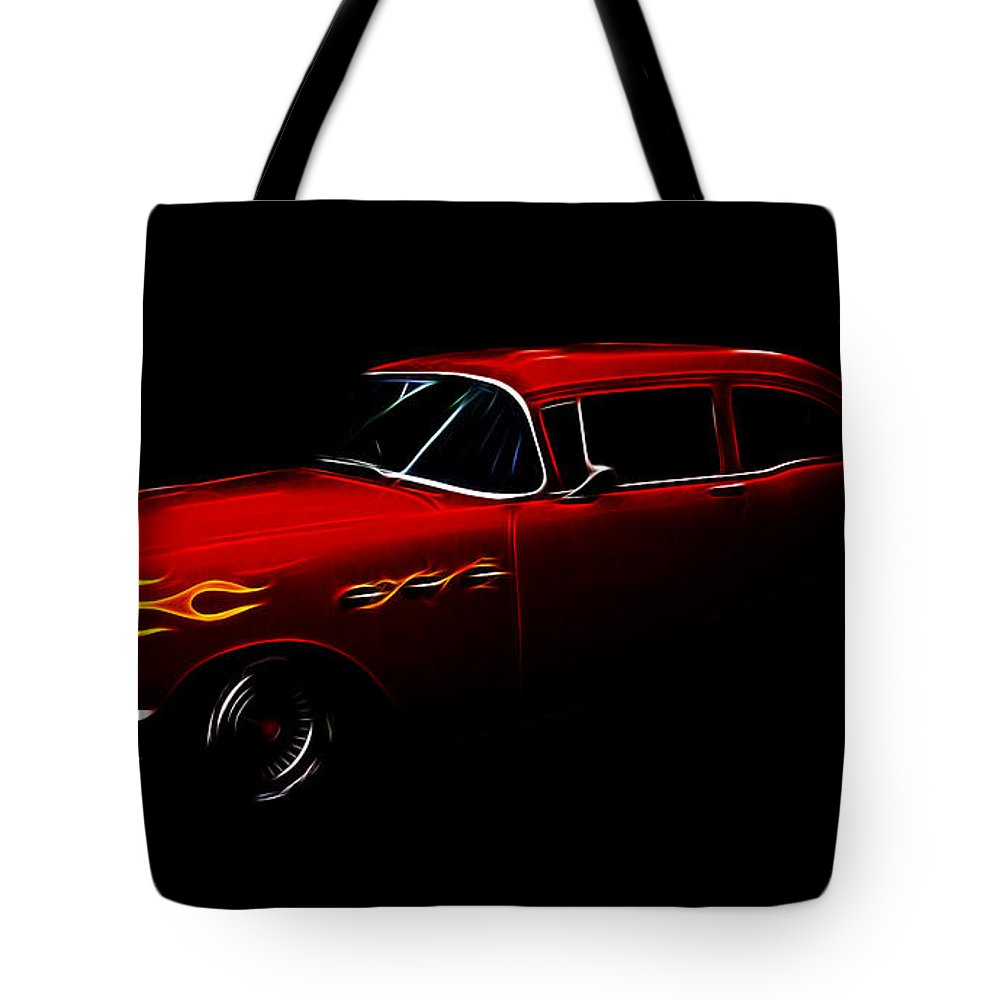 1956 Buick Special Tote Bag featuring the photograph 1956 Buick by Steve McKinzie