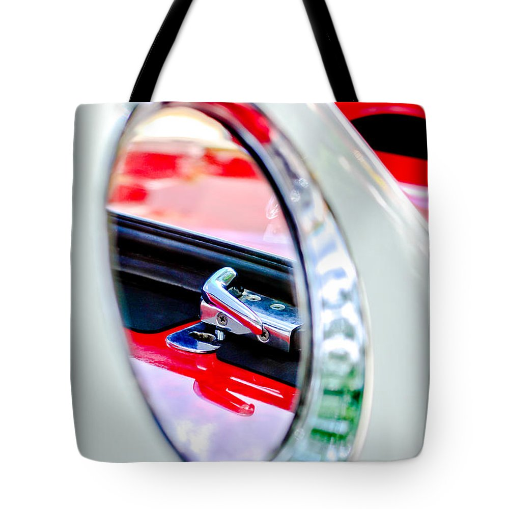 1956 Ford Thunderbird Latch Tote Bag featuring the photograph 1956 Ford Thunderbird Latch -417c by Jill Reger