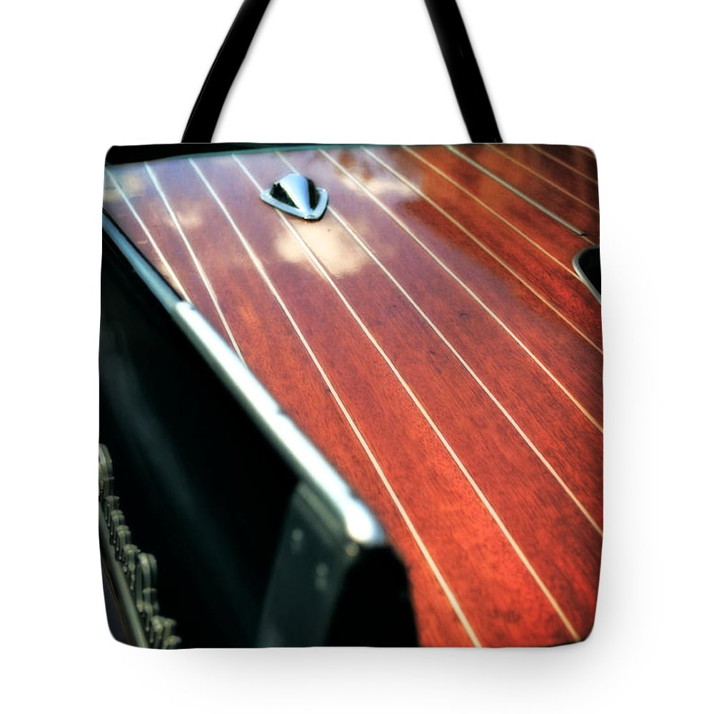 Classic Boat Tote Bag featuring the photograph 1958 Skipper Craft by Michelle Calkins