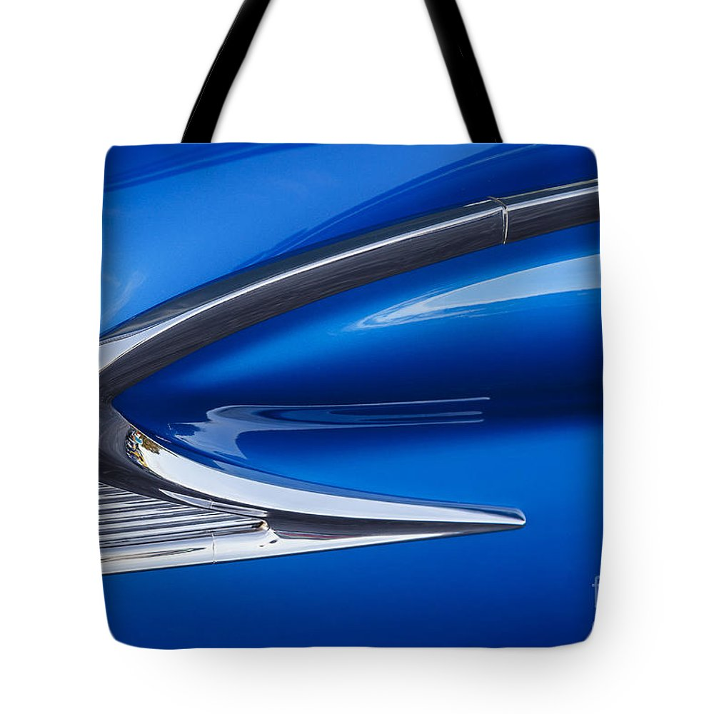 1959 Ford Tote Bag featuring the photograph Blue Galaxie by Dennis Hedberg