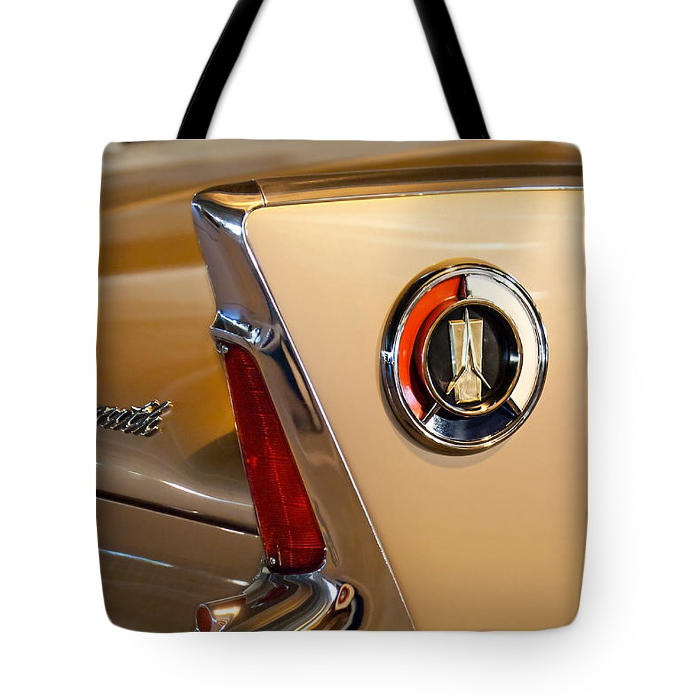 1960 Plymouth Fury Convertible Taillight And Emblem Tote Bag For Featuring The Photograph