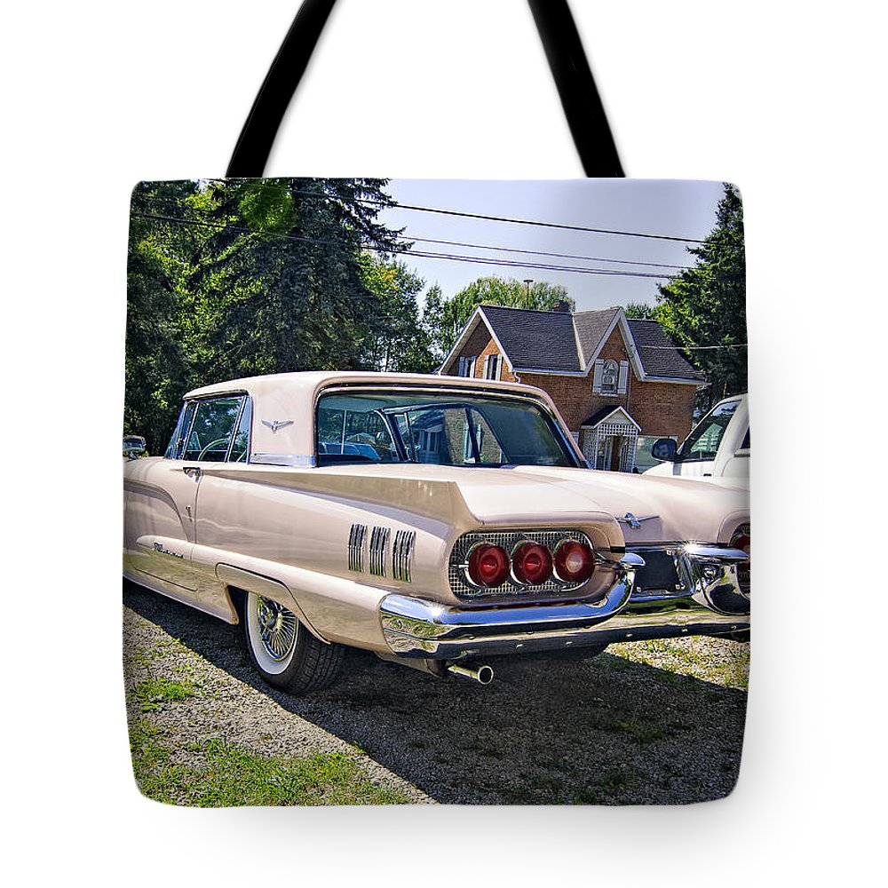 Car Tote Bag featuring the photograph 1960 Thunderbird 2 by Steve Harrington