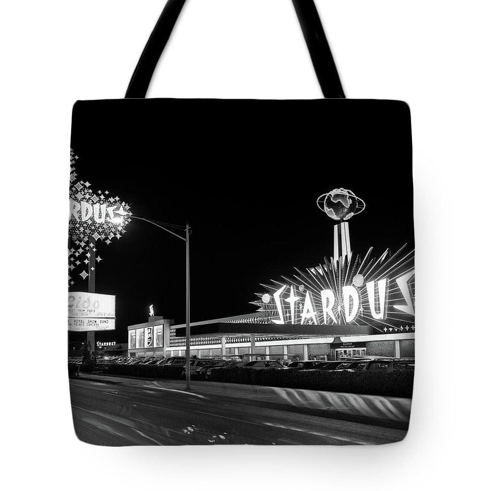 Photography Tote Bag featuring the photograph 1960s Night Scene Of The Stardust by Vintage Images