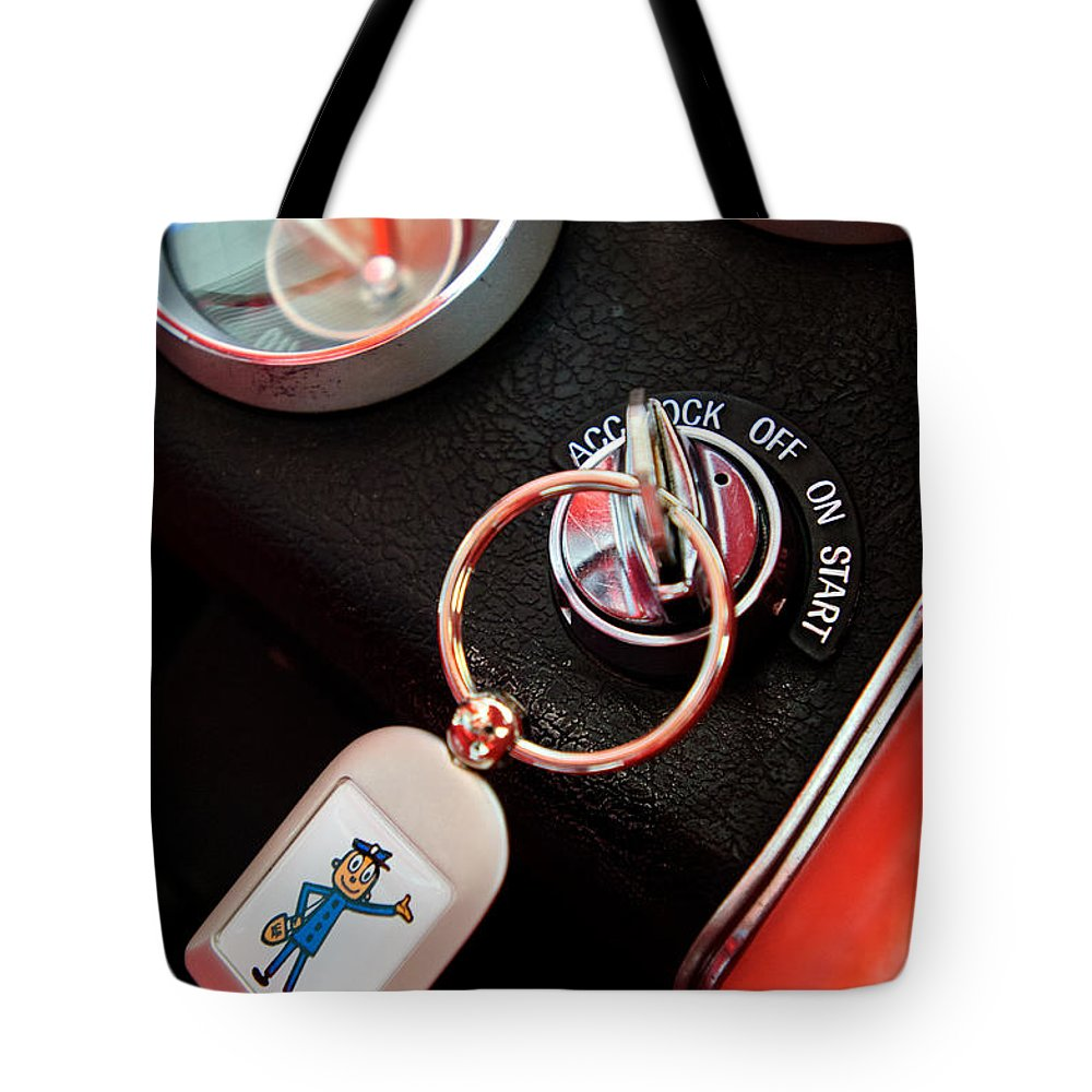 1963 Chevrolet Corvette Dashboard Tote Bag featuring the photograph 1963 Chevrolet Corvette Dashboard by Jill Reger