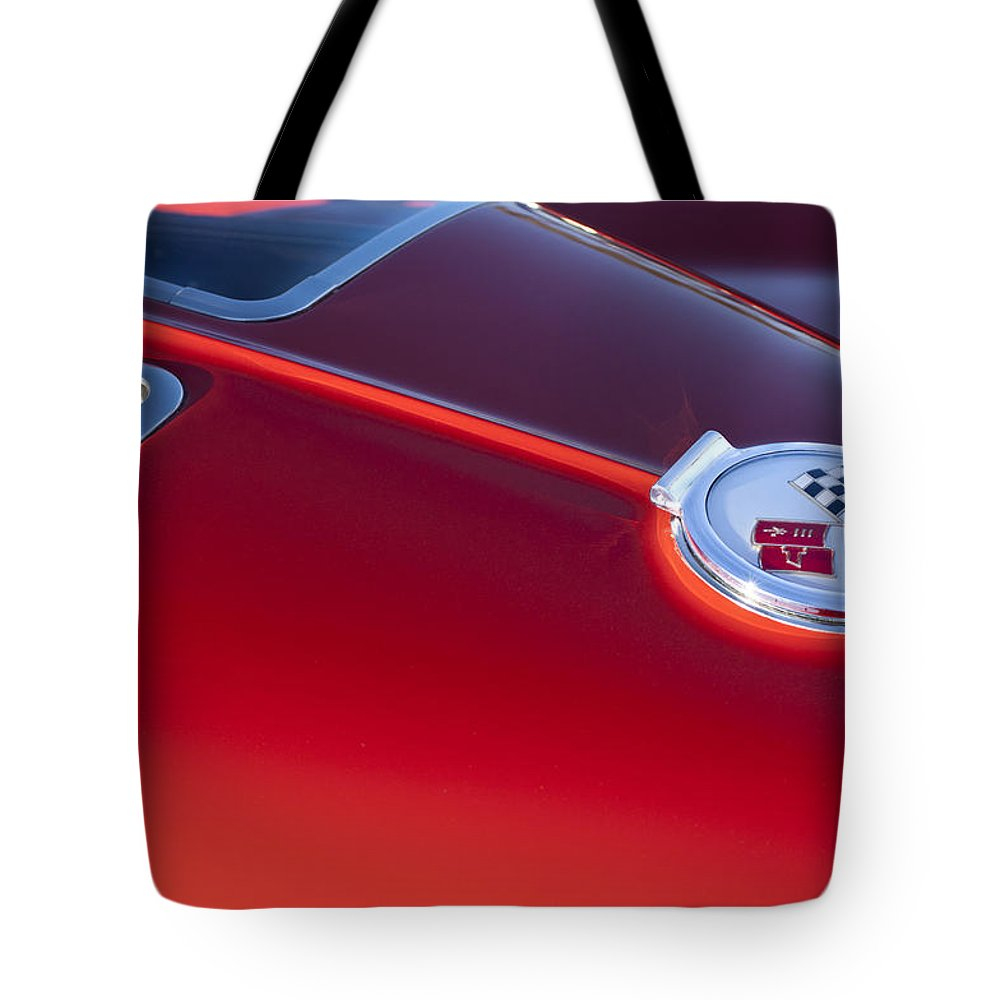 1963 Chevrolet Corvette Tote Bag featuring the photograph 1963 Chevrolet Corvette Split Window by Jill Reger