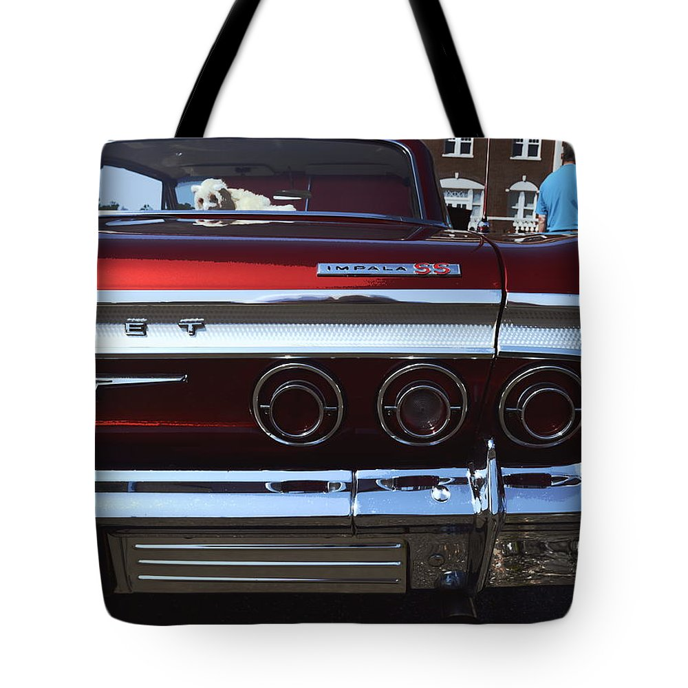 New York Tote Bag featuring the photograph 1964 Chevy Impala by Jeff Watts