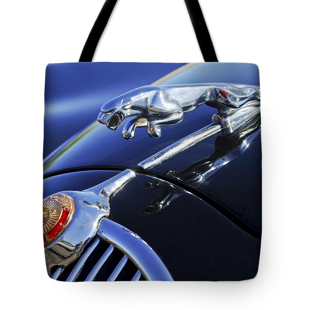 Transportation Tote Bag featuring the photograph 1964 Jaguar Mk2 Saloon by Jill Reger