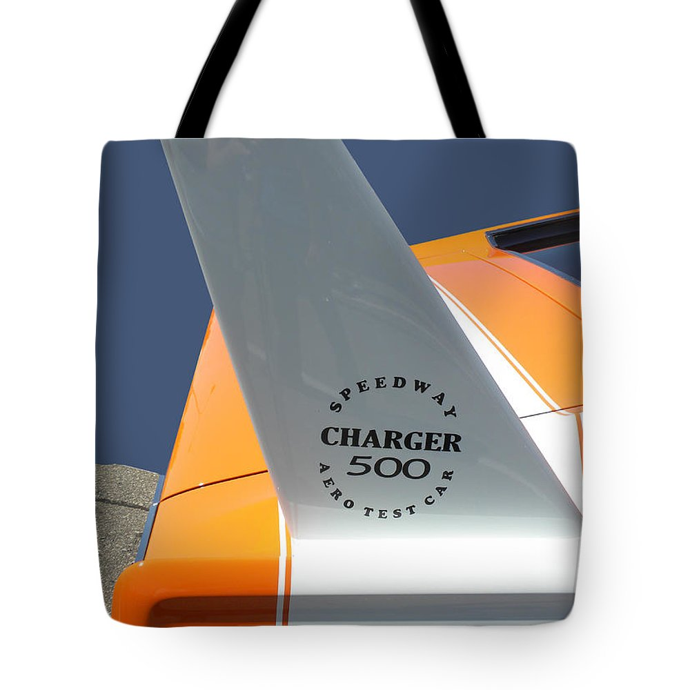Chrysler Tote Bag featuring the photograph 1967 Dodge Charger 01 by Thomas Woolworth
