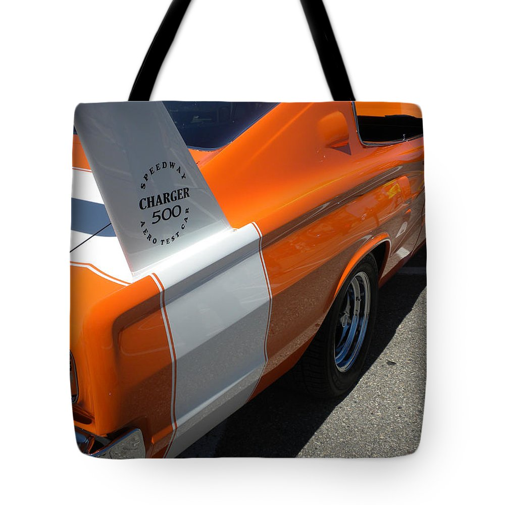 Chrysler Tote Bag featuring the photograph 1967 Dodge Charger 02 by Thomas Woolworth