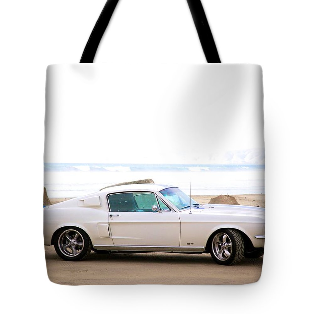 1967 Mustang Fastback Photo Photographs Tote Bag featuring the photograph 1967 Mustang by Brooke Roby