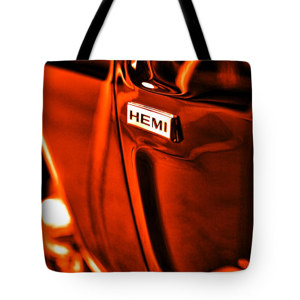 1968 Tote Bag featuring the photograph 1968 Hemi Dodge Charger by Gordon Dean II