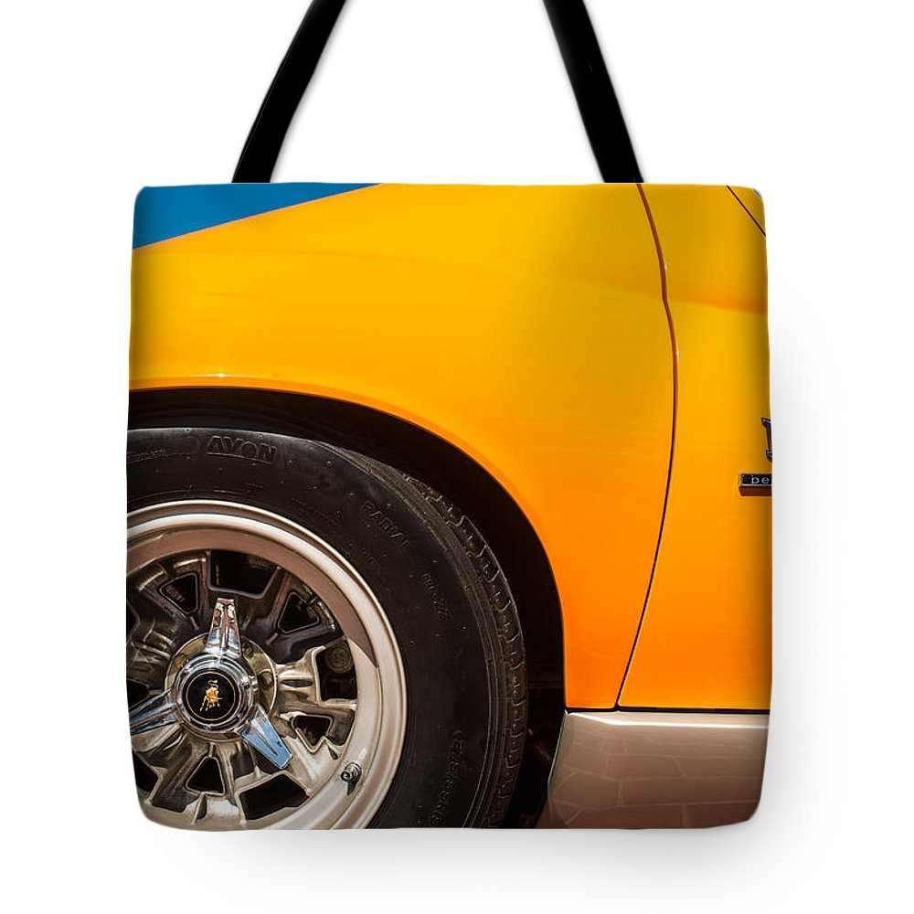 1971 Lamborghini Miura Sv Wheel Emblem 0390c Tote Bag For Sale By
