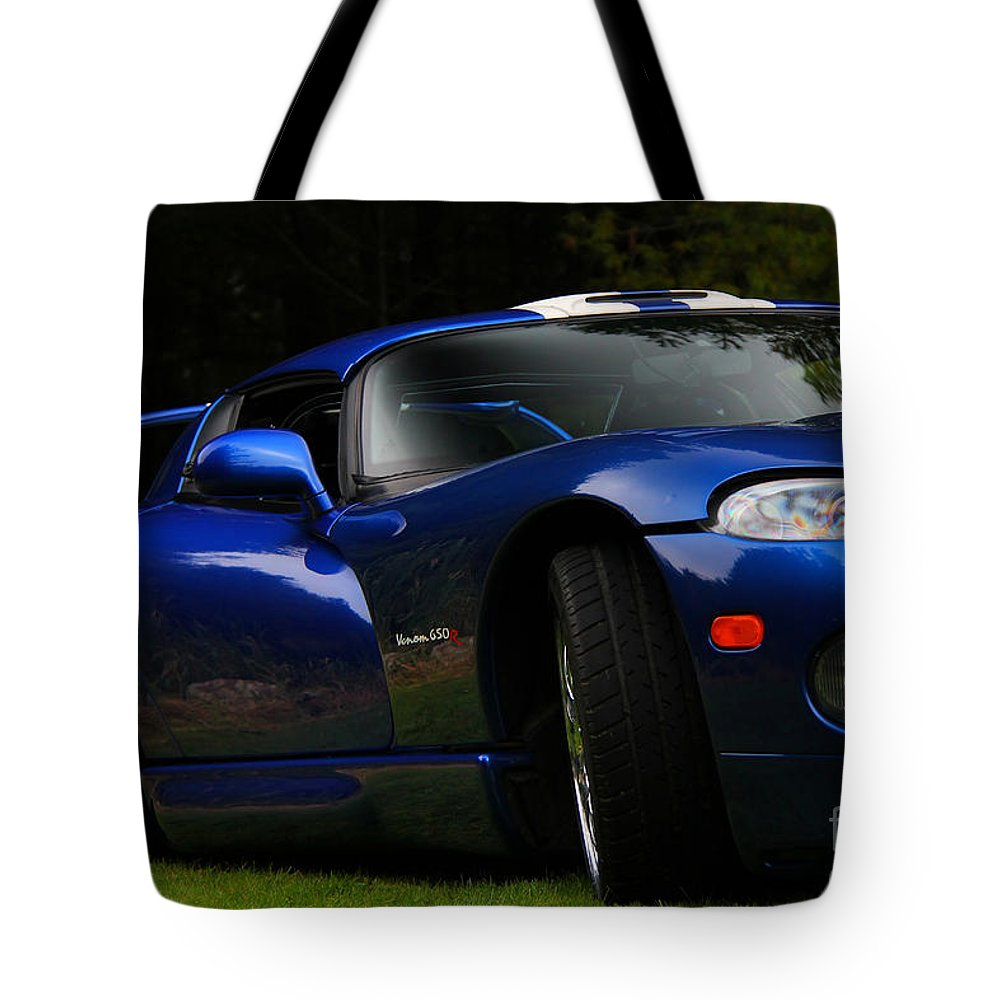 Car Tote Bag featuring the photograph 1997 Viper Hennessey Venom 650r 2 by Davandra Cribbie