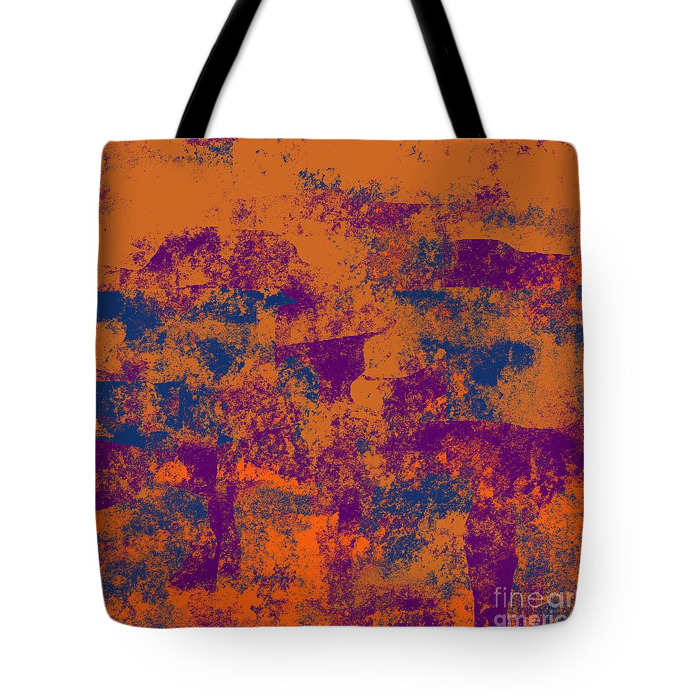 Abstract Tote Bag featuring the digital art 0199 Abstract Thought by Chowdary V Arikatla