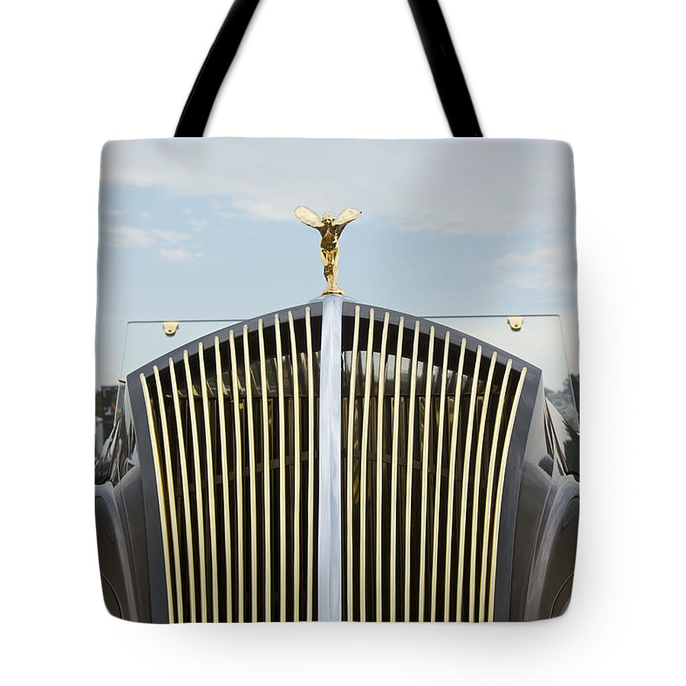 Antique Tote Bag featuring the photograph 1937 47 Rolls Royce by Jack R Perry