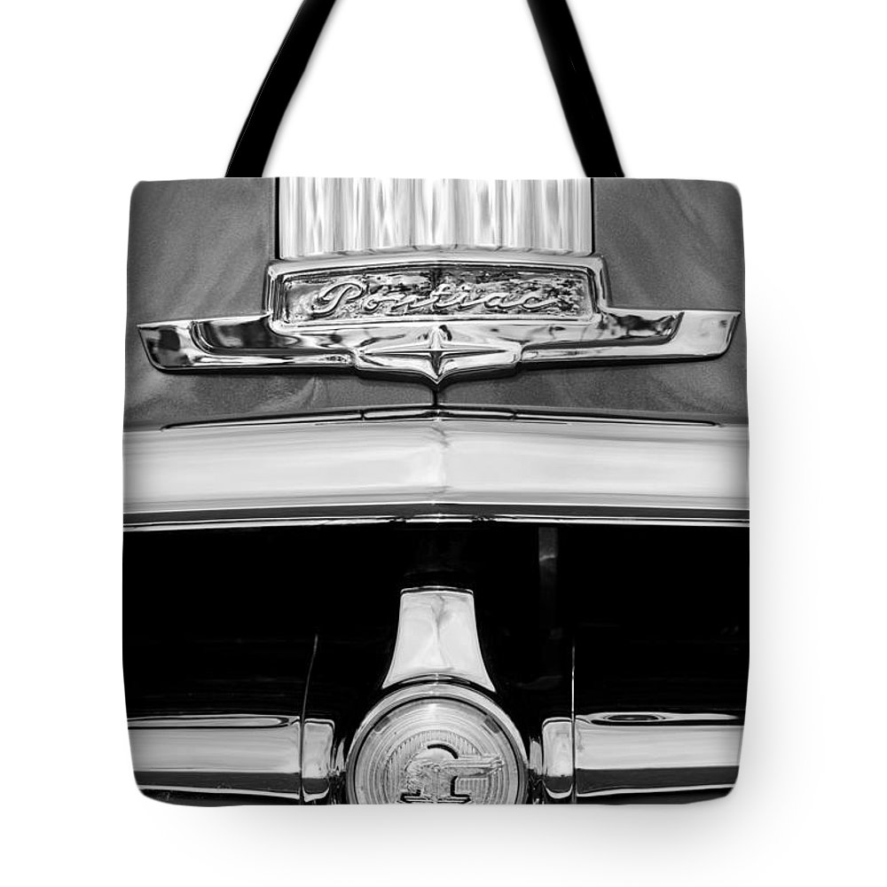 1950 Pontiac Grille Emblem Tote Bag featuring the photograph 1950 Pontiac Grille Emblem by Jill Reger
