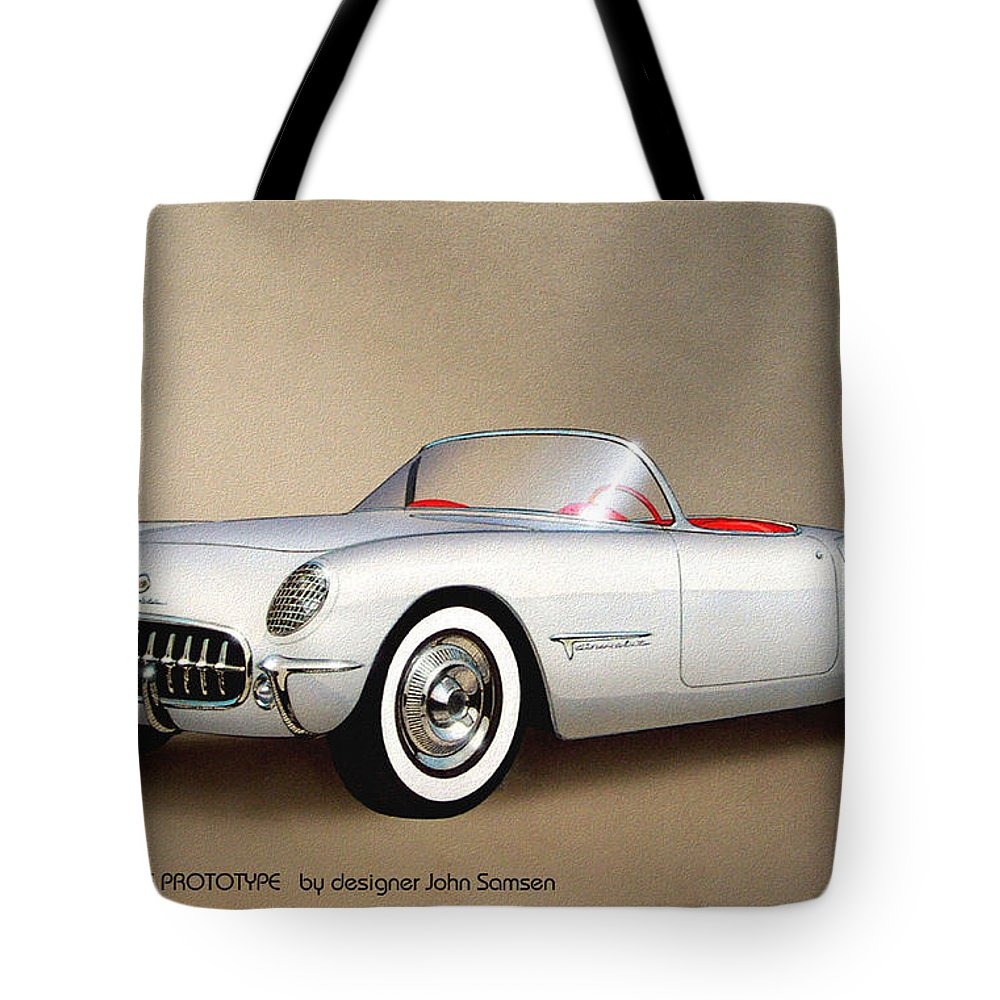 Classic Car Renderings Tote Bags