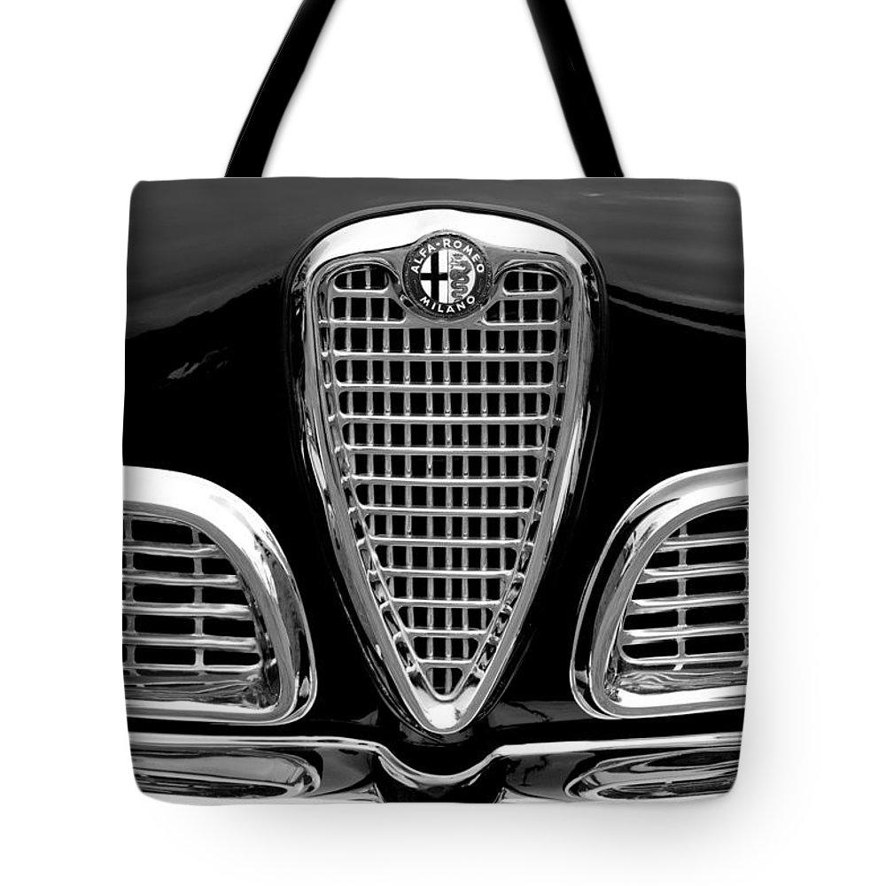 1959 Alfa Romeo Giulietta Sprint Grille Tote Bag featuring the photograph 1959 Alfa Romeo Giulietta Sprint Grille by Jill Reger