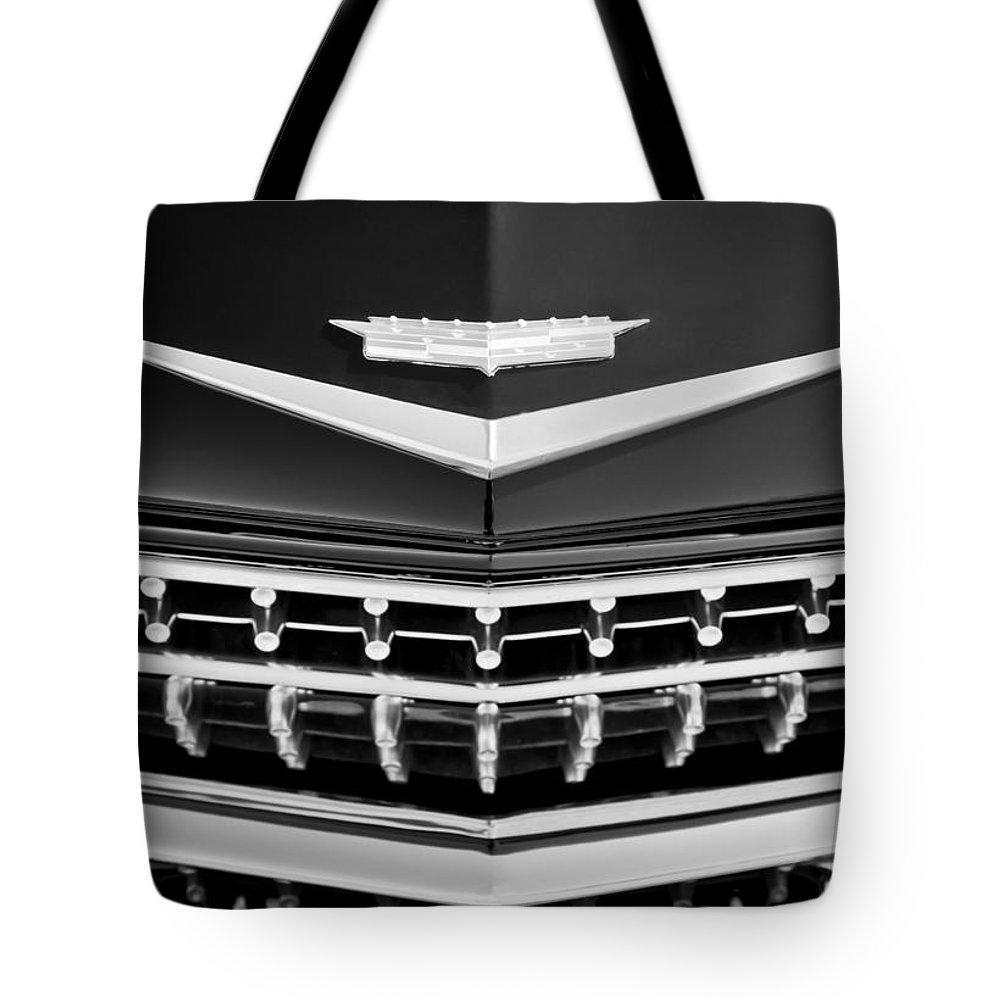 1959 Cadillac Eldorado Grille Emblem Tote Bag featuring the photograph 1959 Cadillac Eldorado Grille Emblem by Jill Reger