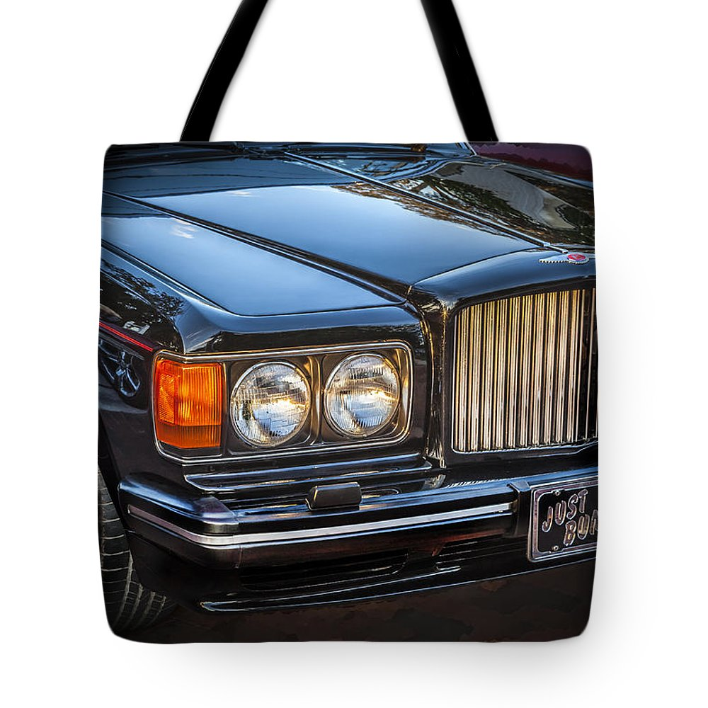 1990 Bentley Tote Bag featuring the photograph 1990 Bentley Turbo R by Rich Franco