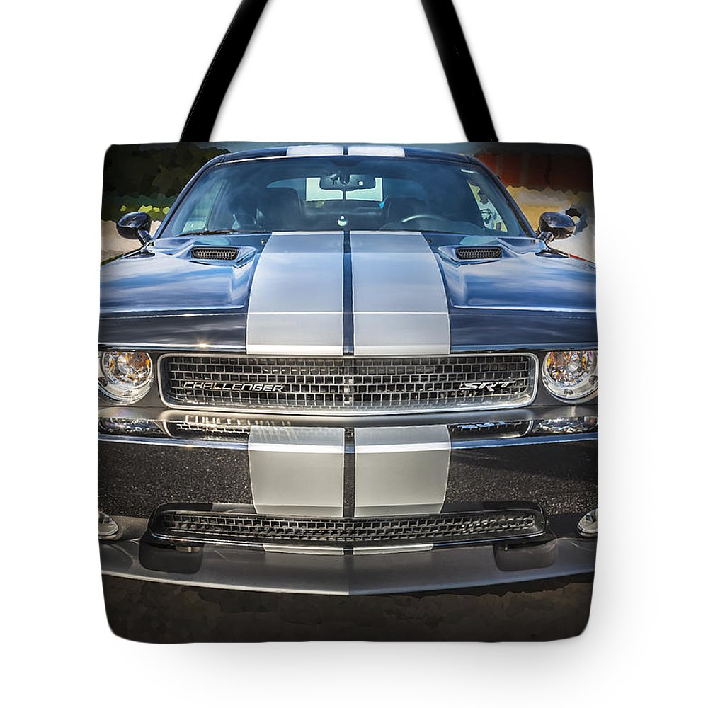 Dodge Tote Bag featuring the photograph 2013 Dodge Challenger Srt by Rich Franco